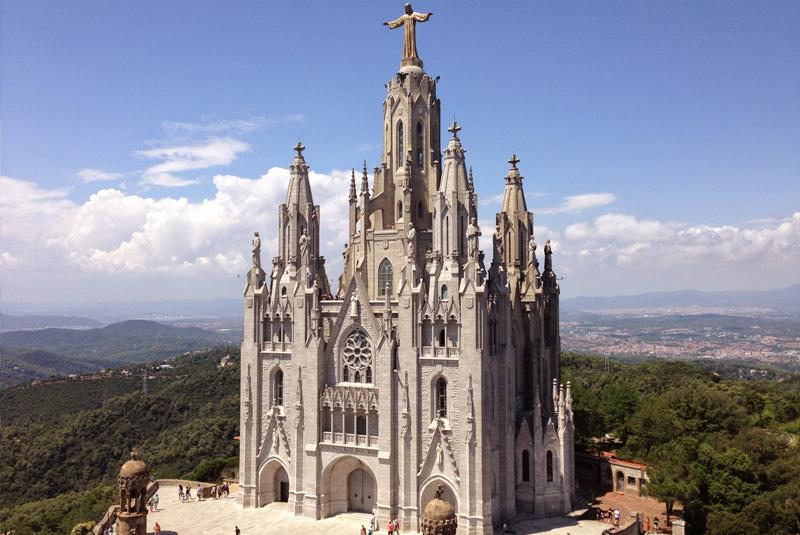 The Church of the Sacred Heart at Tibidabo