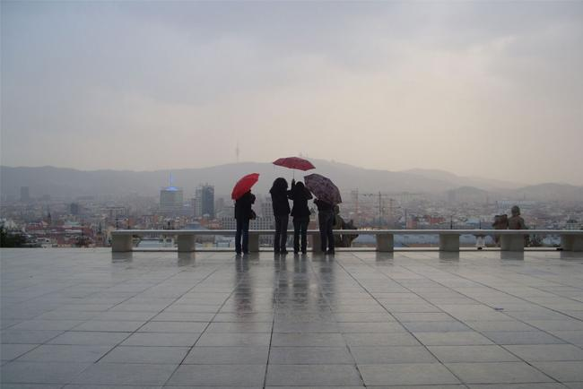 Barcellona sotto la pioggia