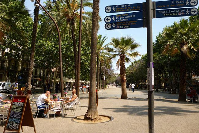 La Rambla del Raval en Barcelona
