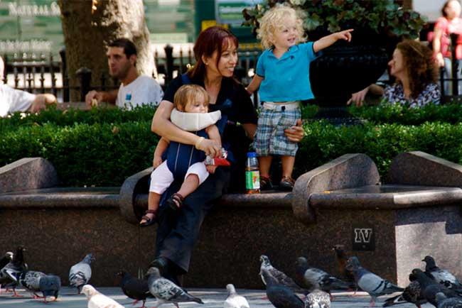 Baby sitter con bambini a Barcellona