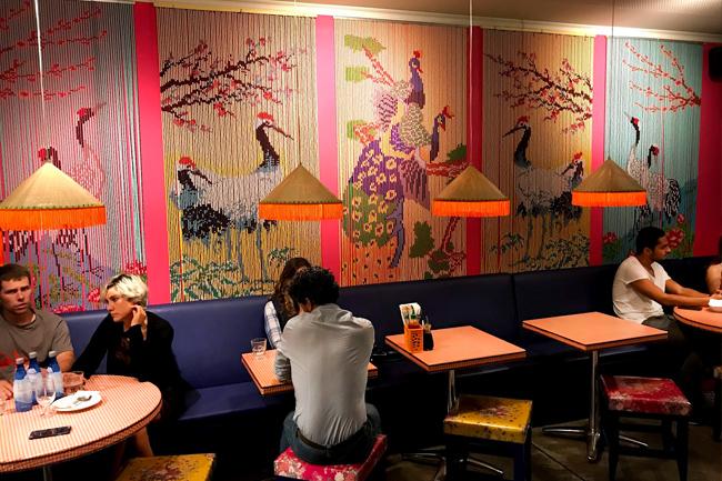 Sala interna del Ristorante Bun Bo