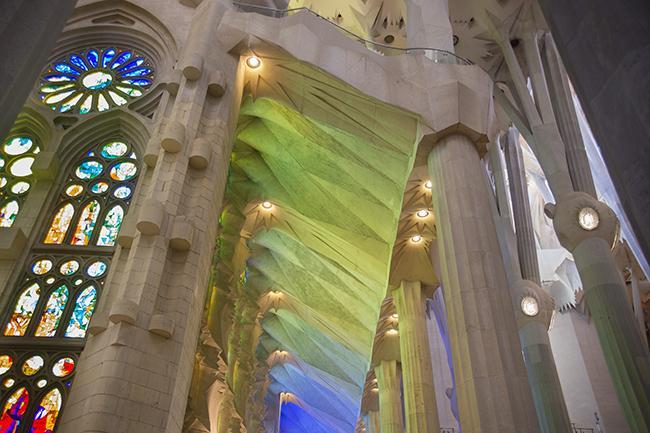 Riflessi di luce alla Sagrada Familia