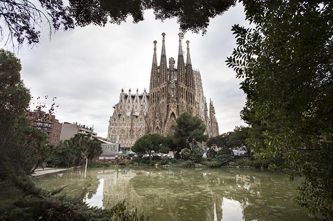 Sagrada Familia vista giardini