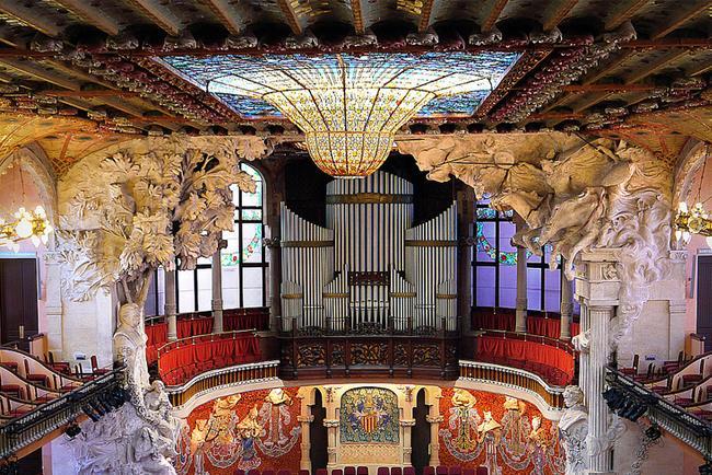 Interno del Palau de la Musica Catalana