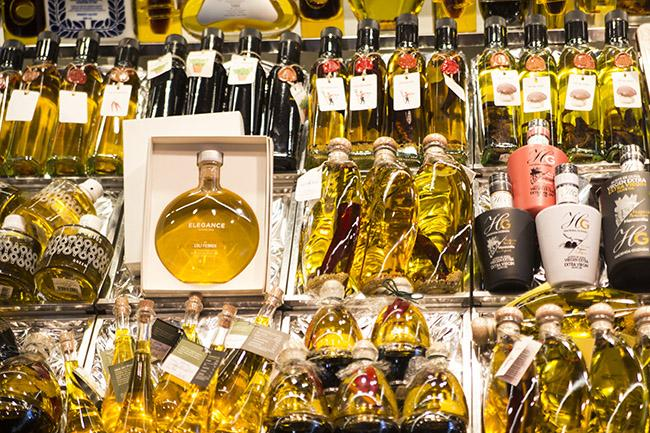 A vast selection of extra virgin olive oil