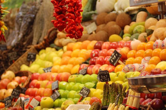 Boqueria esposizione frutta fresca