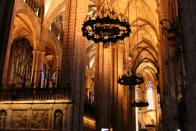 Interior of the Cathedral of Barcelona
