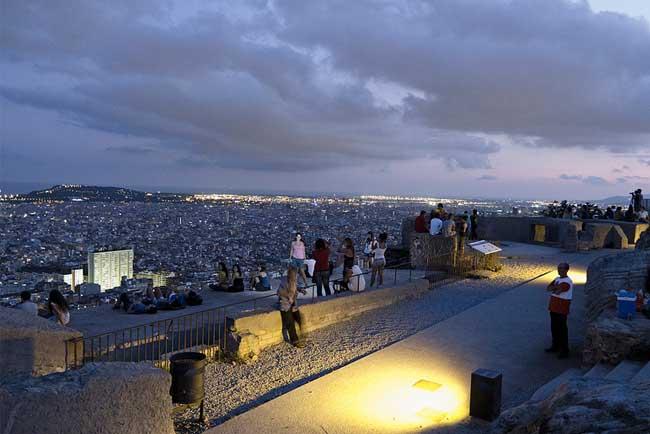 Mirador del Carmel la sera