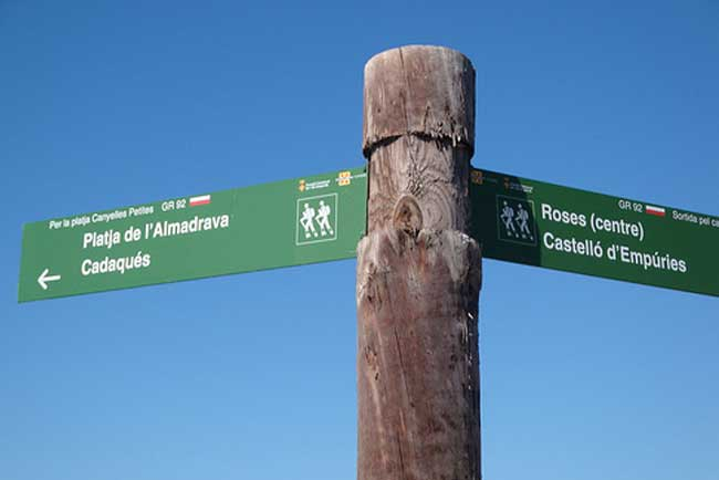 Some of the signposts in Roses