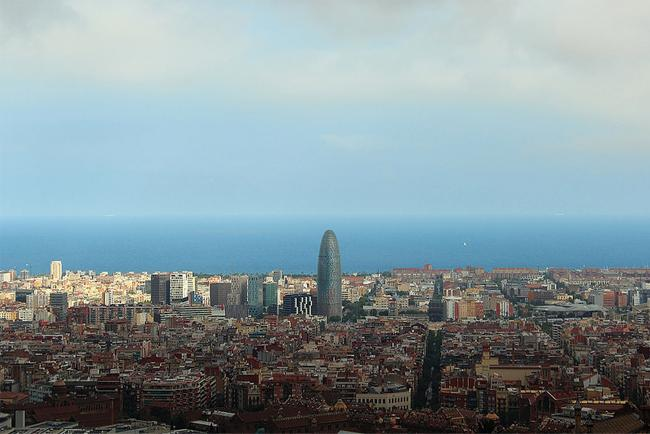 Torre Agbar from the Mirador del Carmel