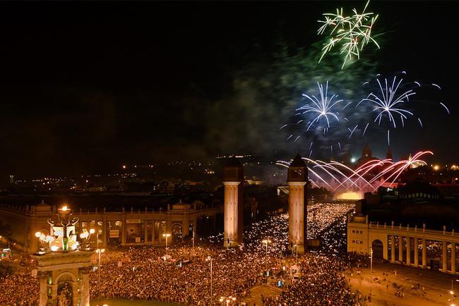 Celebración de la Mercè en Plaza Espanya