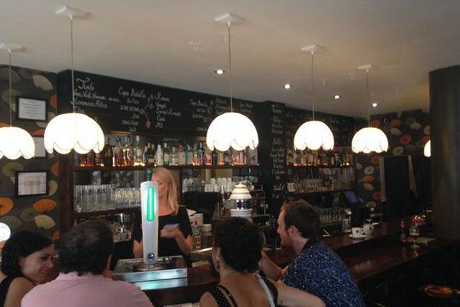 Interno del Bar Tosca