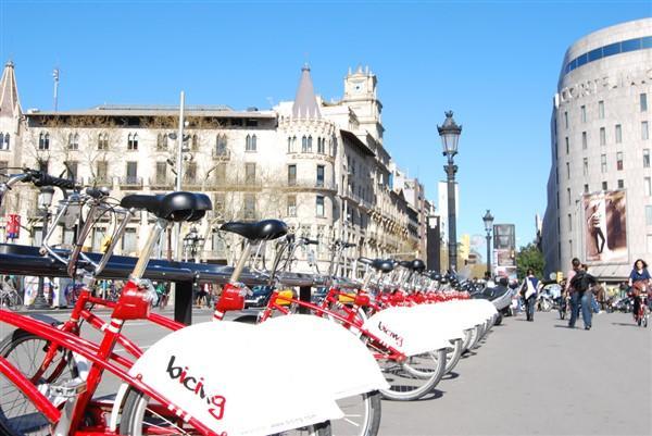 Girare in bicicletta a Barcellona