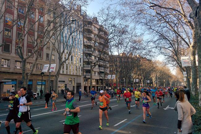 Maratón 2016 en la Gran Via